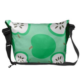 Manzanas verdes bolsas messenger
