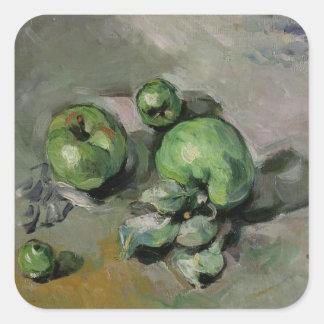 Manzanas verdes, c.1872-73 pegatina cuadrada