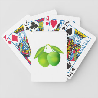Manzanas verdes baraja cartas de poker