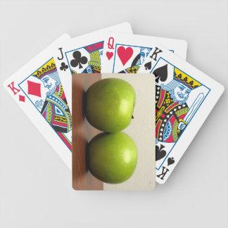Manzanas verdes cartas de juego