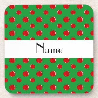 Manzanas verdes conocidas personalizadas posavasos de bebida