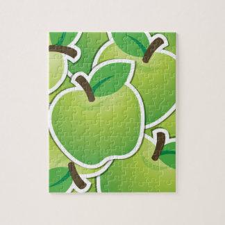 Manzanas verdes enrrolladas puzzle