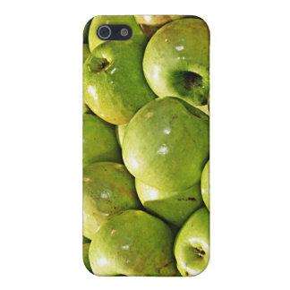 Manzanas verdes iPhone 5 fundas