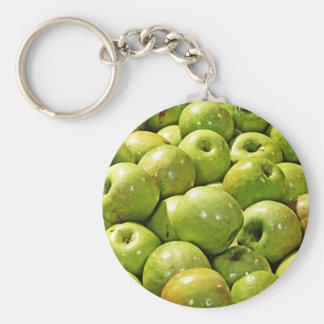 Manzanas verdes llaveros personalizados