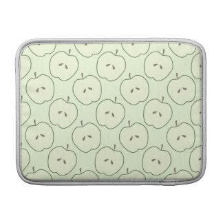Manzanas verdes, modelo de la fruta funda para macbook air