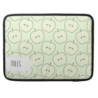 Manzanas verdes, modelo de la fruta funda para macbook pro