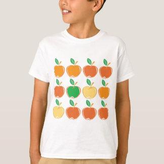 Manzanas verdes, rojas, amarillas y anaranjadas playera