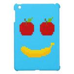 Manzanas y arte del pixel del plátano iPad mini cárcasa