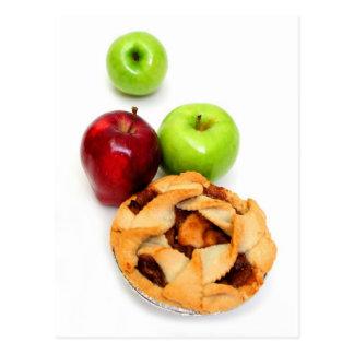 Manzanas y empanada de Apple para uno Postal
