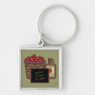 Manzanas y llavero de la sidra
