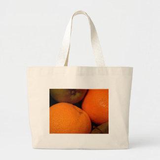 Manzanas y naranjas bolsa tela grande