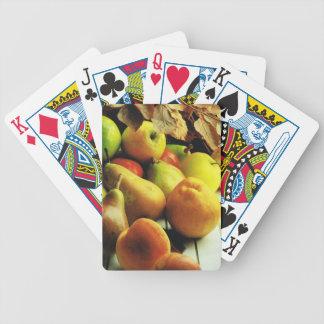 Manzanas y naranjas barajas de cartas