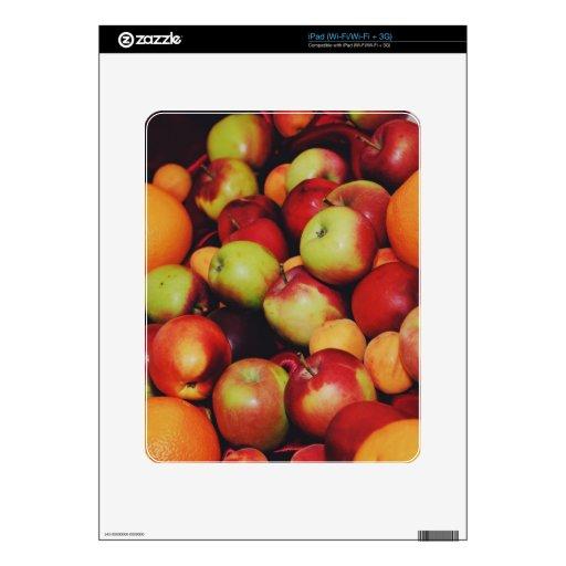 Manzanas y naranjas iPad skins