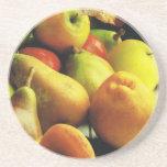 Manzanas y naranjas posavasos personalizados