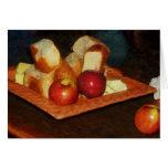 Manzanas y pan felicitación