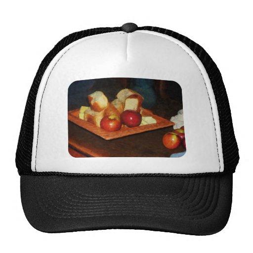 Manzanas y pan gorras