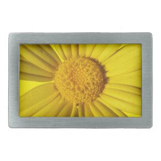 Manzanilla amarilla soleada hebillas cinturón rectangulares