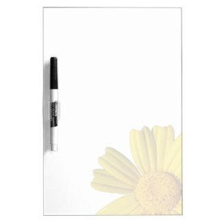 Manzanilla amarilla soleada pizarras blancas