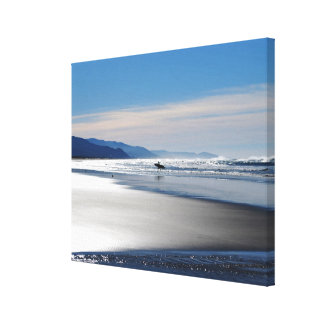 Manzanita Beach - Surfing in Oregon Canvas Print