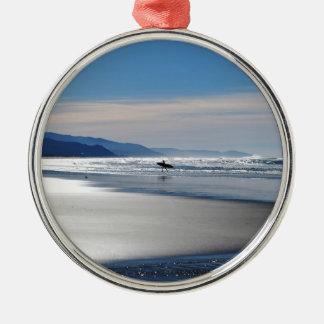 Manzanita Beach - Surfing in Oregon Ornament