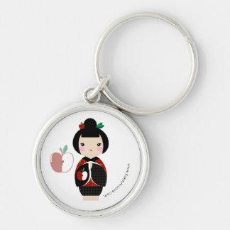 Manzanita Kokeshi Premium Keychain