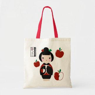 Manzanita Kokeshi Tote Canvas Bags