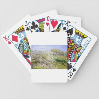 Manzano de Claude Monet Baraja Cartas De Poker