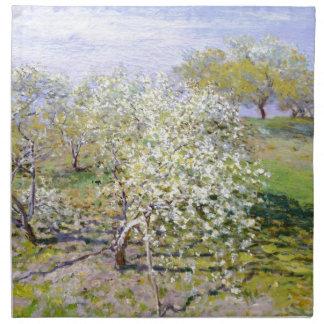 Manzano de Claude Monet Servilletas
