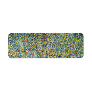 Manzano De Gustavo Klimt, arte Nouveau del vintage Etiqueta De Remite