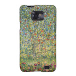 Manzano De Gustavo Klimt, arte Nouveau del vintage Galaxy S2 Carcasa