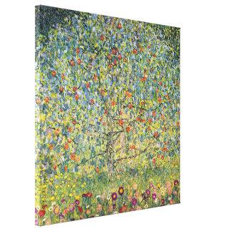 Manzano De Gustavo Klimt, arte Nouveau del vintage Impresión En Lona Estirada