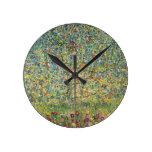 Manzano De Gustavo Klimt, arte Nouveau del vintage Relojes De Pared