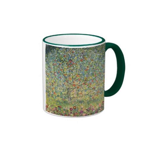 Manzano De Gustavo Klimt, arte Nouveau del vintage Taza A Dos Colores