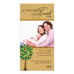 Manzano de oro 2 de Rosh Hashanah Tarjeta Con Foto Personalizada