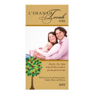 Manzano de oro 2 de Rosh Hashanah Tarjetas Personales Con Fotos