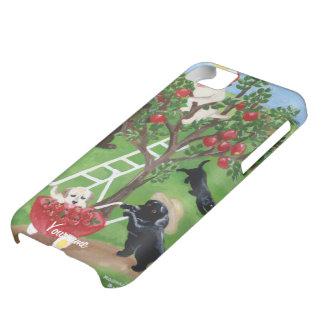 Manzano Personalizado Labradors Funda Para iPhone 5C