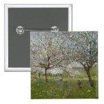 Manzanos En flor Pin Cuadrada 5 Cm