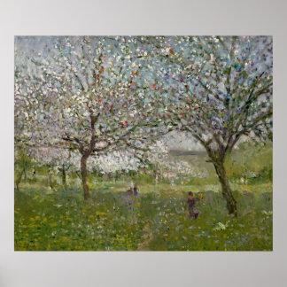 Manzanos En flor Póster
