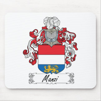 Manzi Family Crest Mouse Pad