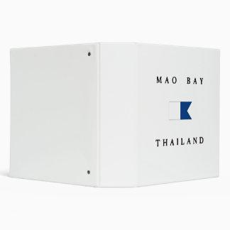 Mao Bay Thailand Alpha Dive Flag Binder