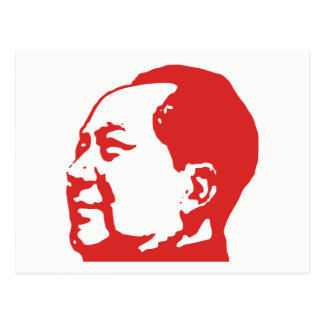 Mao, Chinese Communist, in Red Postcard