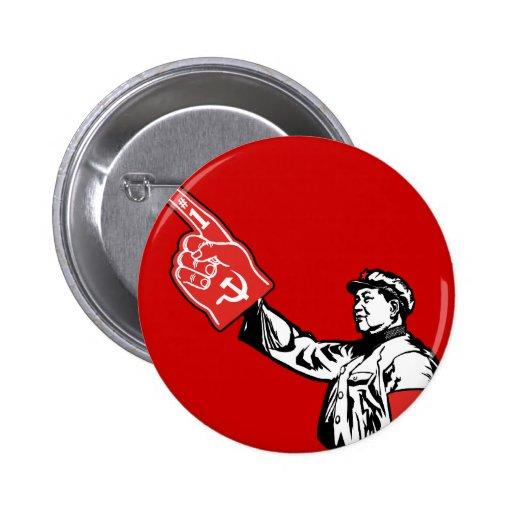 Mao - Communism is #1 2 Inch Round Button