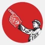 Mao - Communism is #1 Round Sticker