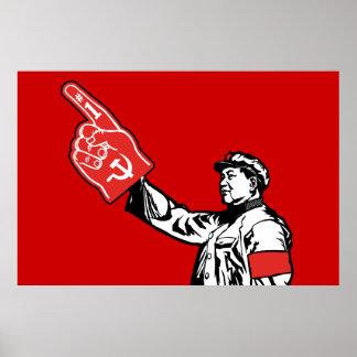Mao - el comunismo es #1 póster