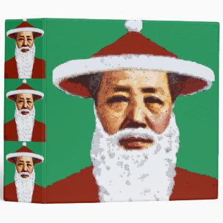 Mao Merry Christmas Chinese Pop Art Santa Claus Binder