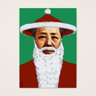 Mao Merry Christmas Chinese Pop Art Santa Claus Business Card