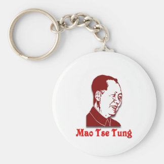 Mao Tse Tung Basic Round Button Keychain