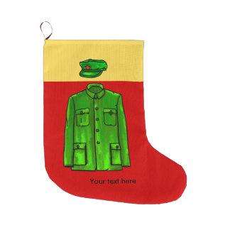 Mao Zedong Chairman Mao Coat Large Christmas Stocking