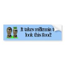 Maoi Heads Bumper Sticker