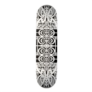 Maori and Marquesas tribal tattoo design Skateboard